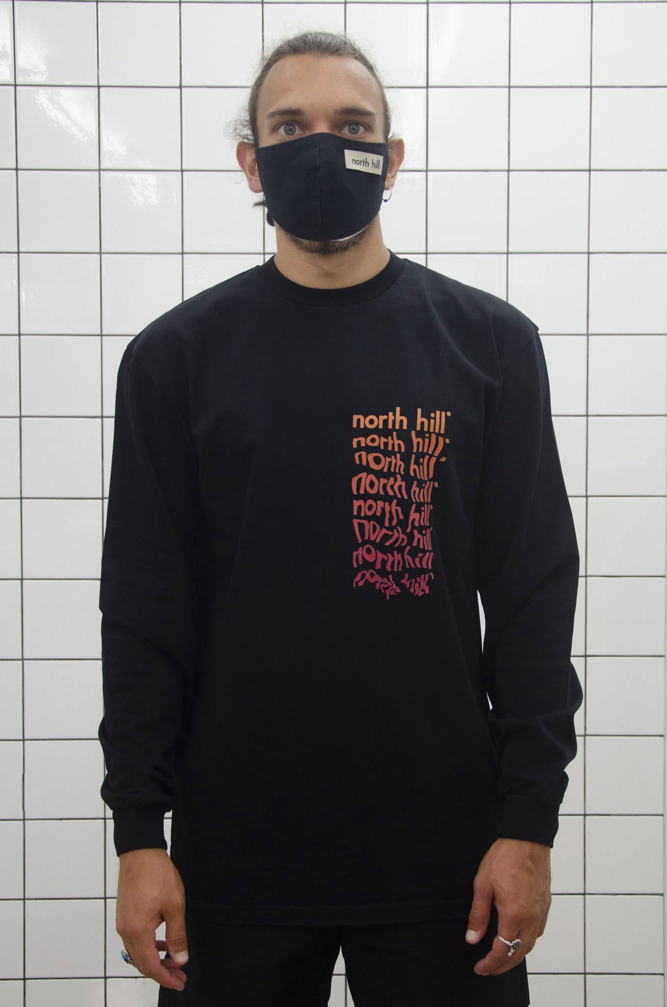 Melting Longsleeve T-Shirt Black