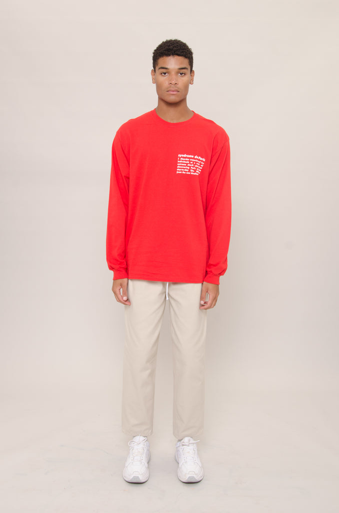 Longsleeve Definition Tee (Red)