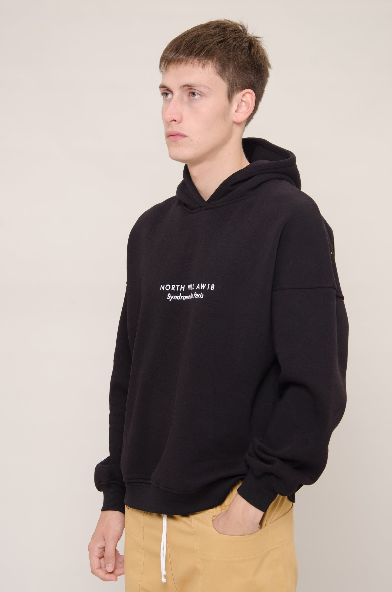 Black Oversized Hooded Sweatshirt
