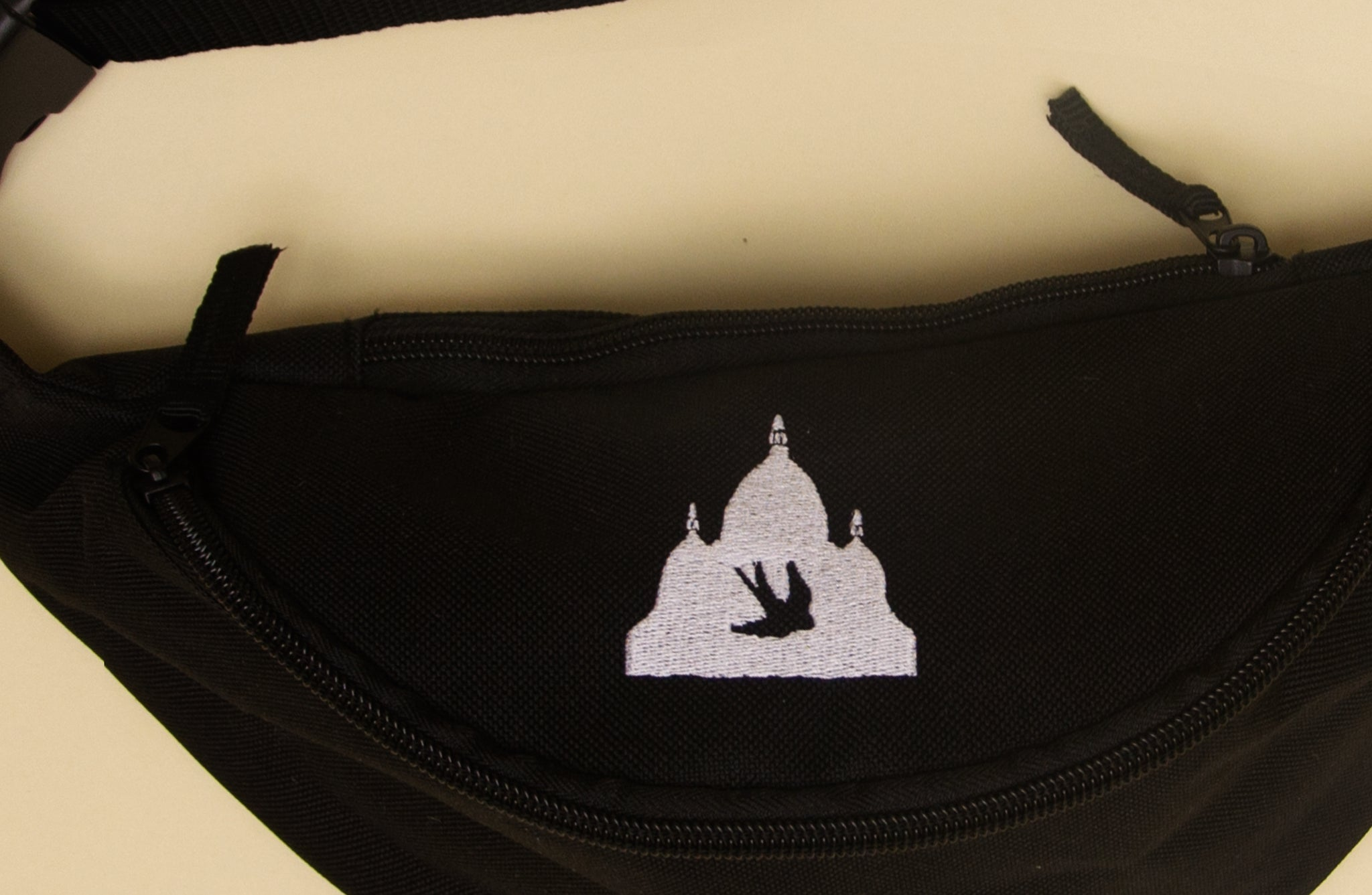 The North Hill Logo Fanny Pack is a made in France bag