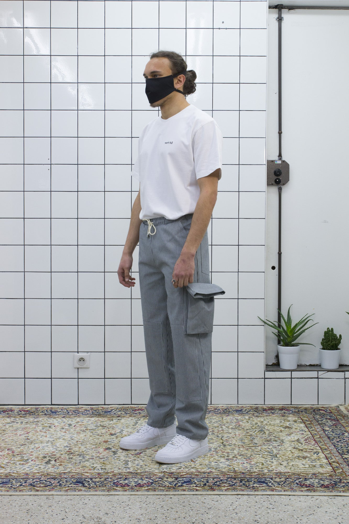 Striped Worker Pant
