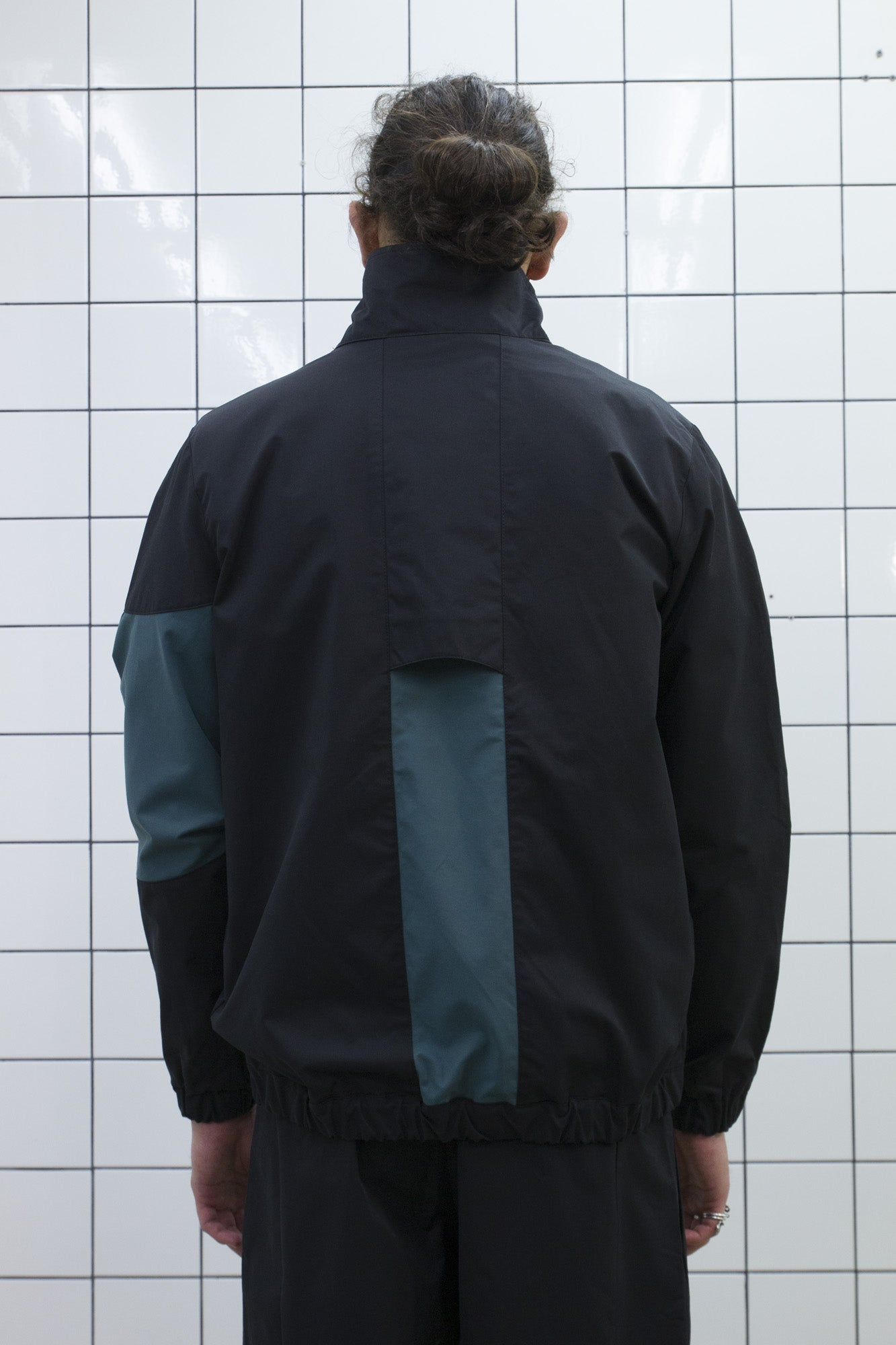 Black Funnel Zip Jacket