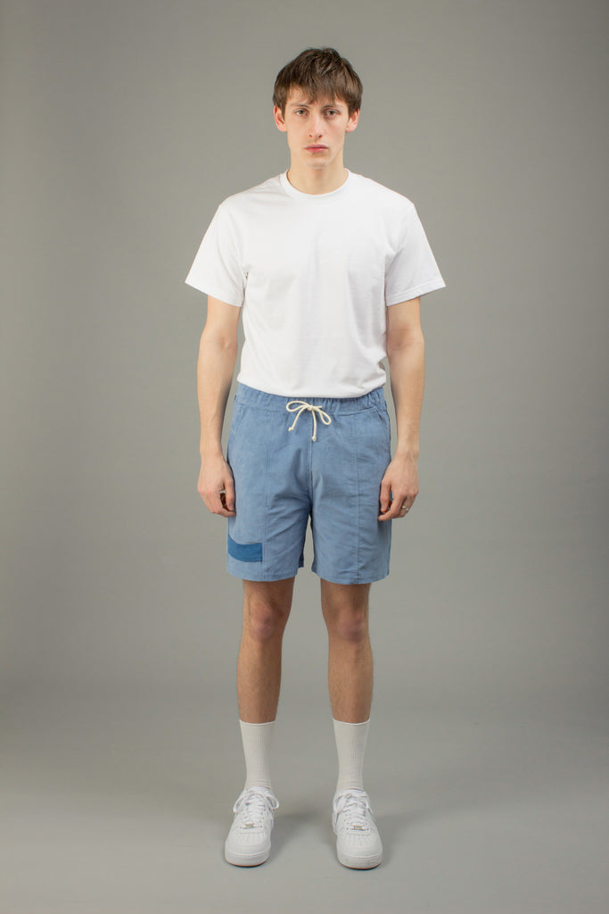BLUE CORDUROY SHORTS
