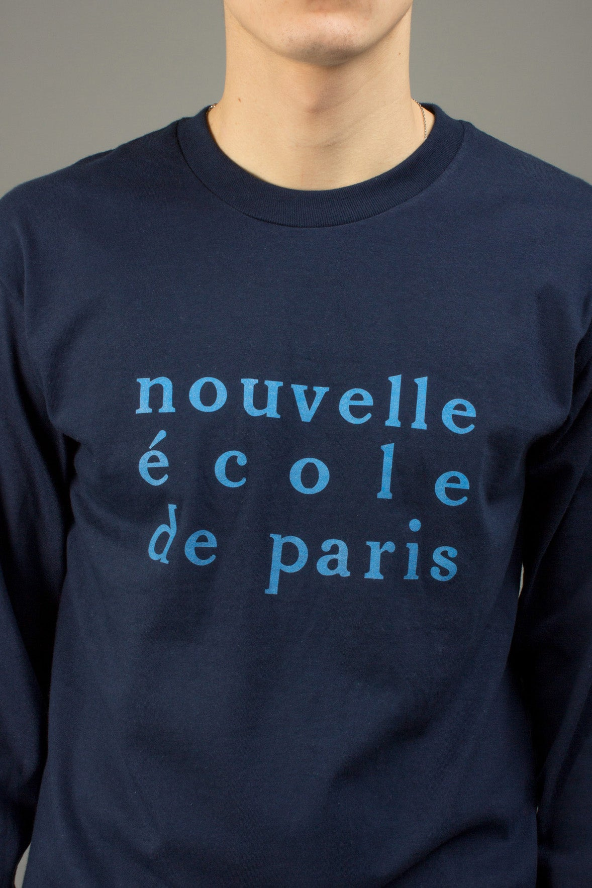 NAVY NOUVELLE ECOLE TEE
