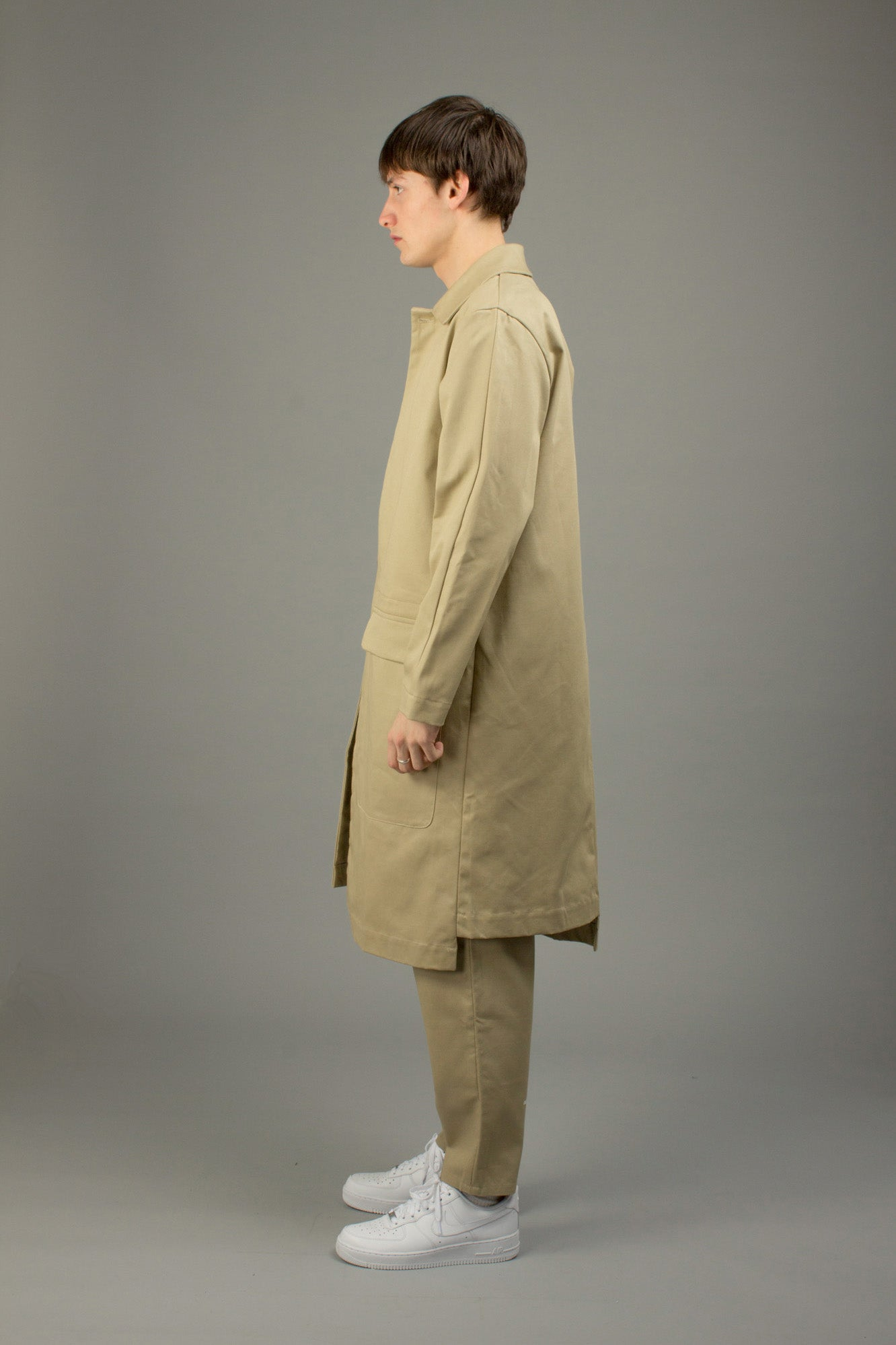 STONE ASYMETRICAL COAT