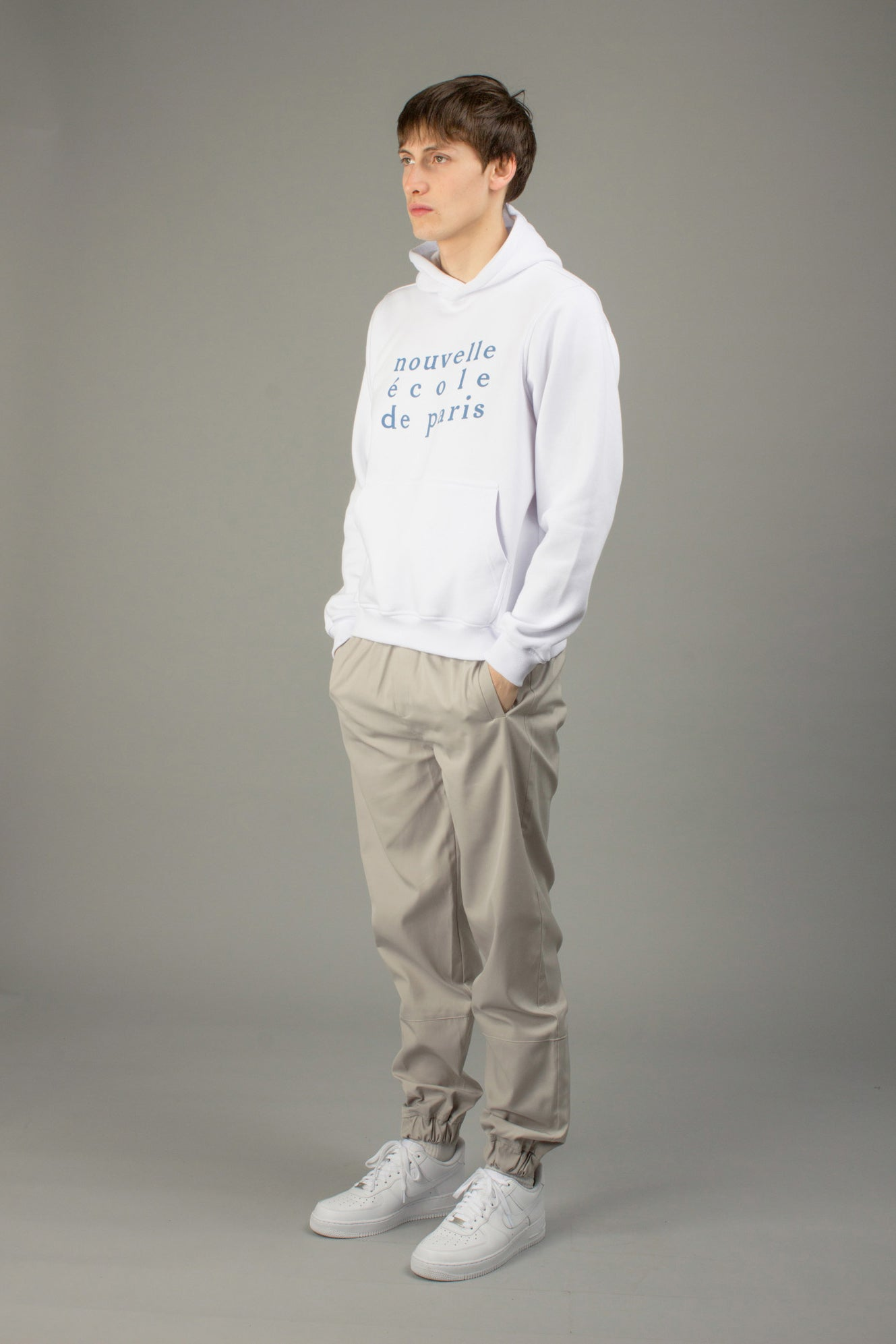WHITE NOUVELLE ECOLE HOODIE