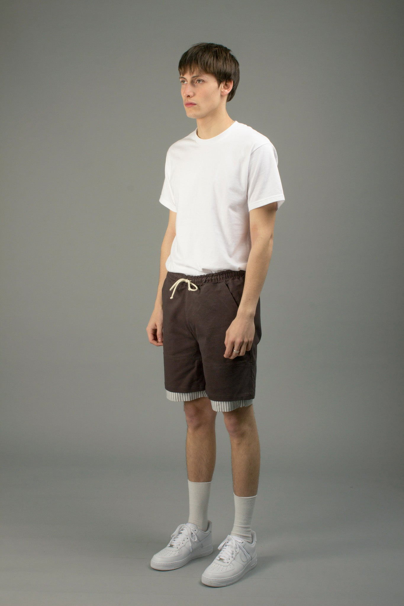 TWILL ANTHRACITE SPORT SHORTS