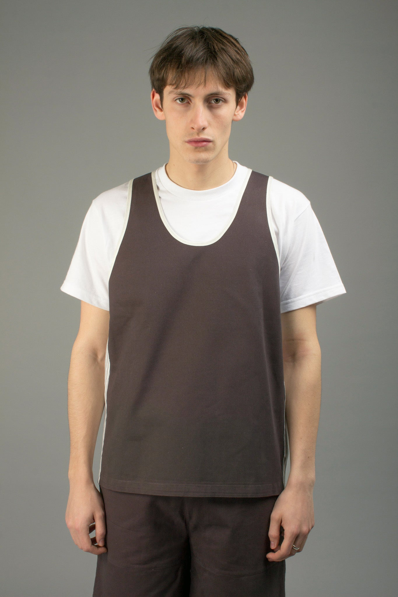 TWILL ANTHRACITE BASKETBALL JERSEY