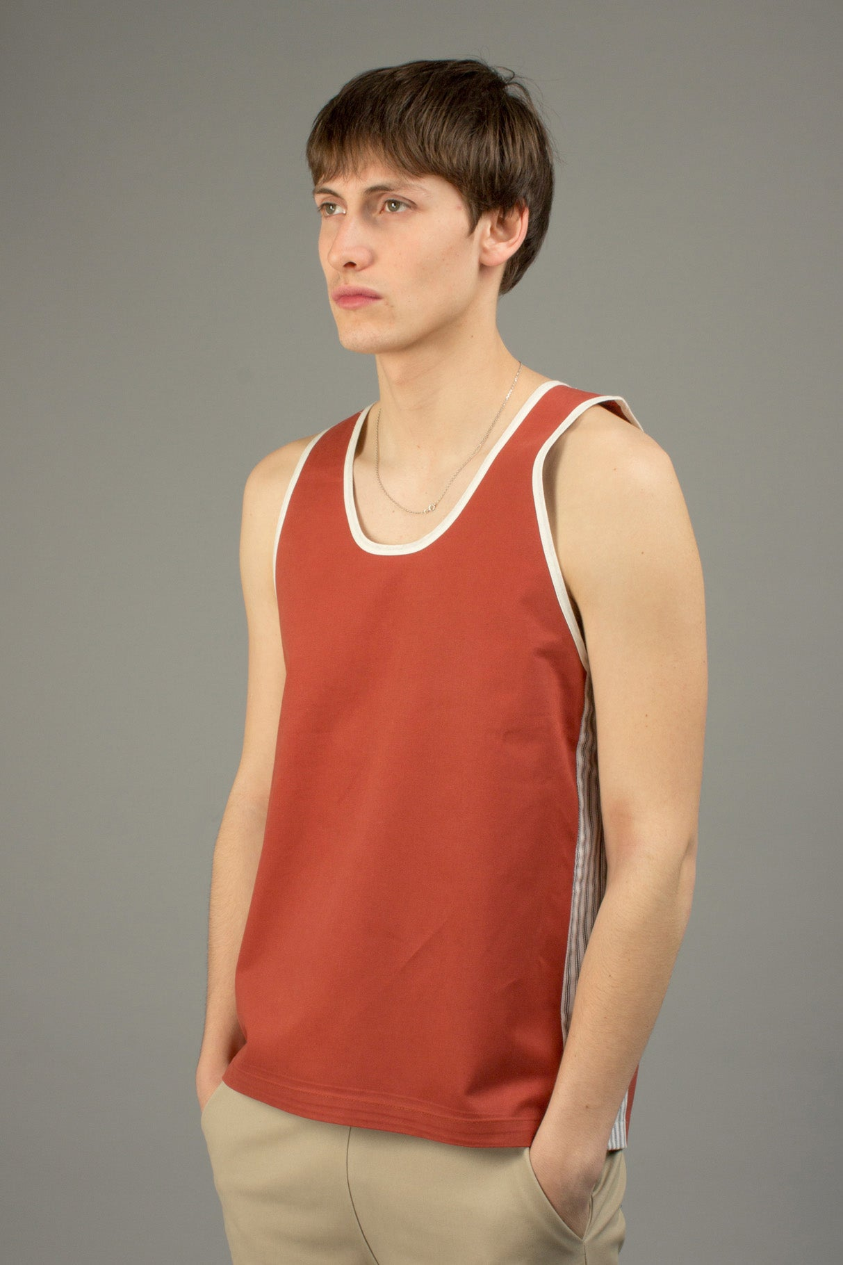 TWILL BRICK BASKETBALL JERSEY