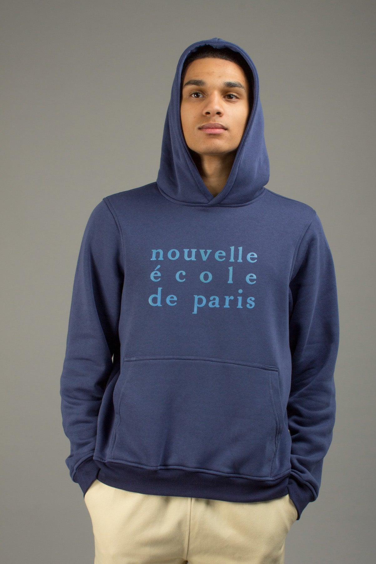NAVY NOUVELLE ECOLE HOODIE
