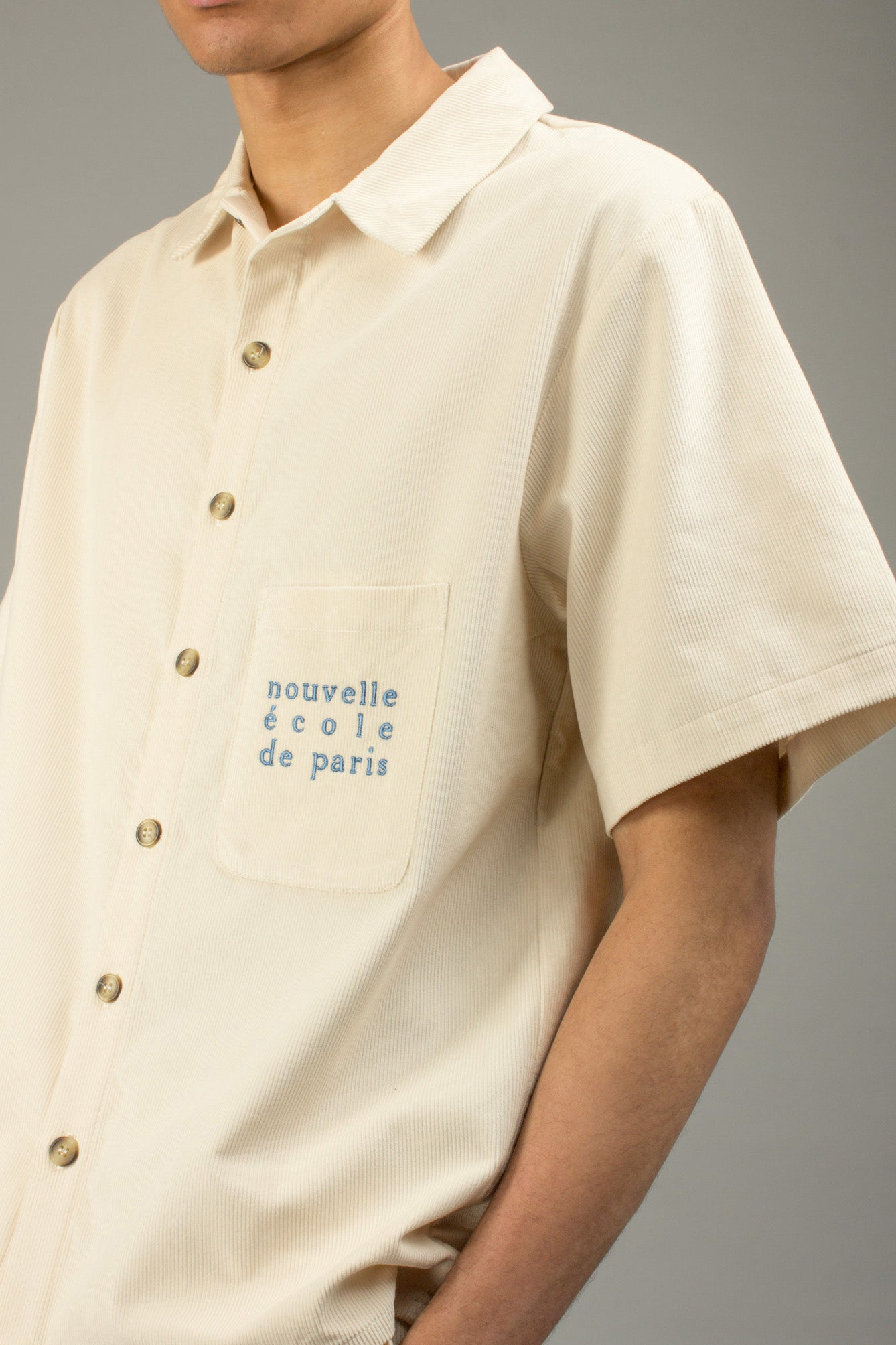 OFF-WHITE CORDUROY SHIRT