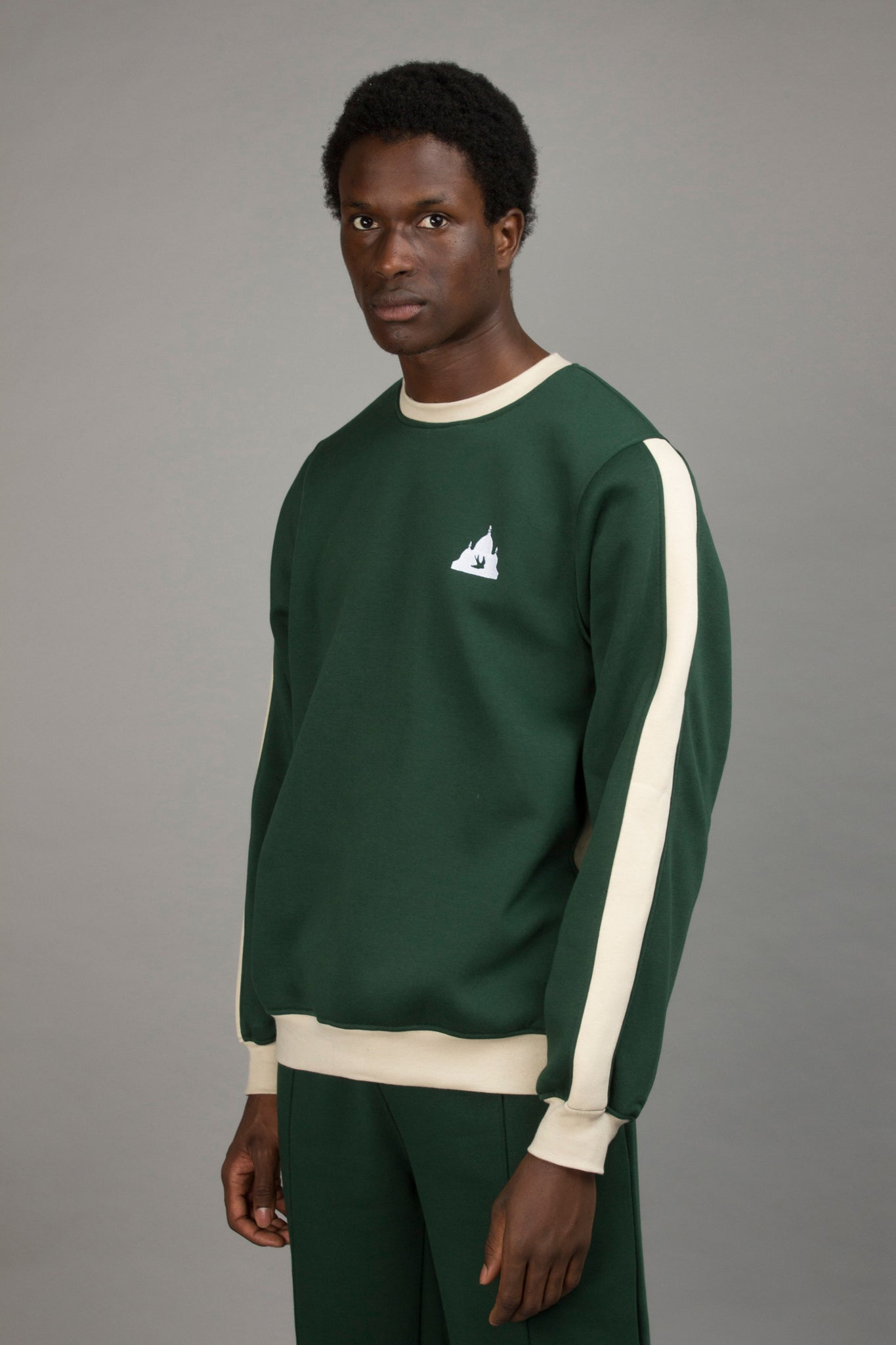 COLORBLOCK CREWNECK GREEN