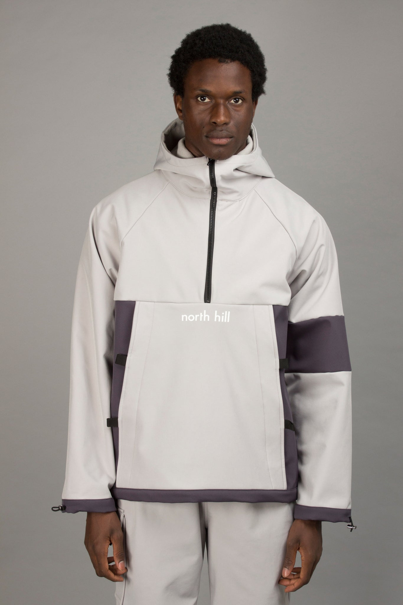 GREY SOFTSHELL ANORAK