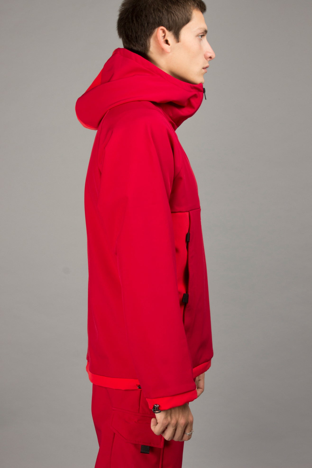 RED SOFTSHELL ANORAK
