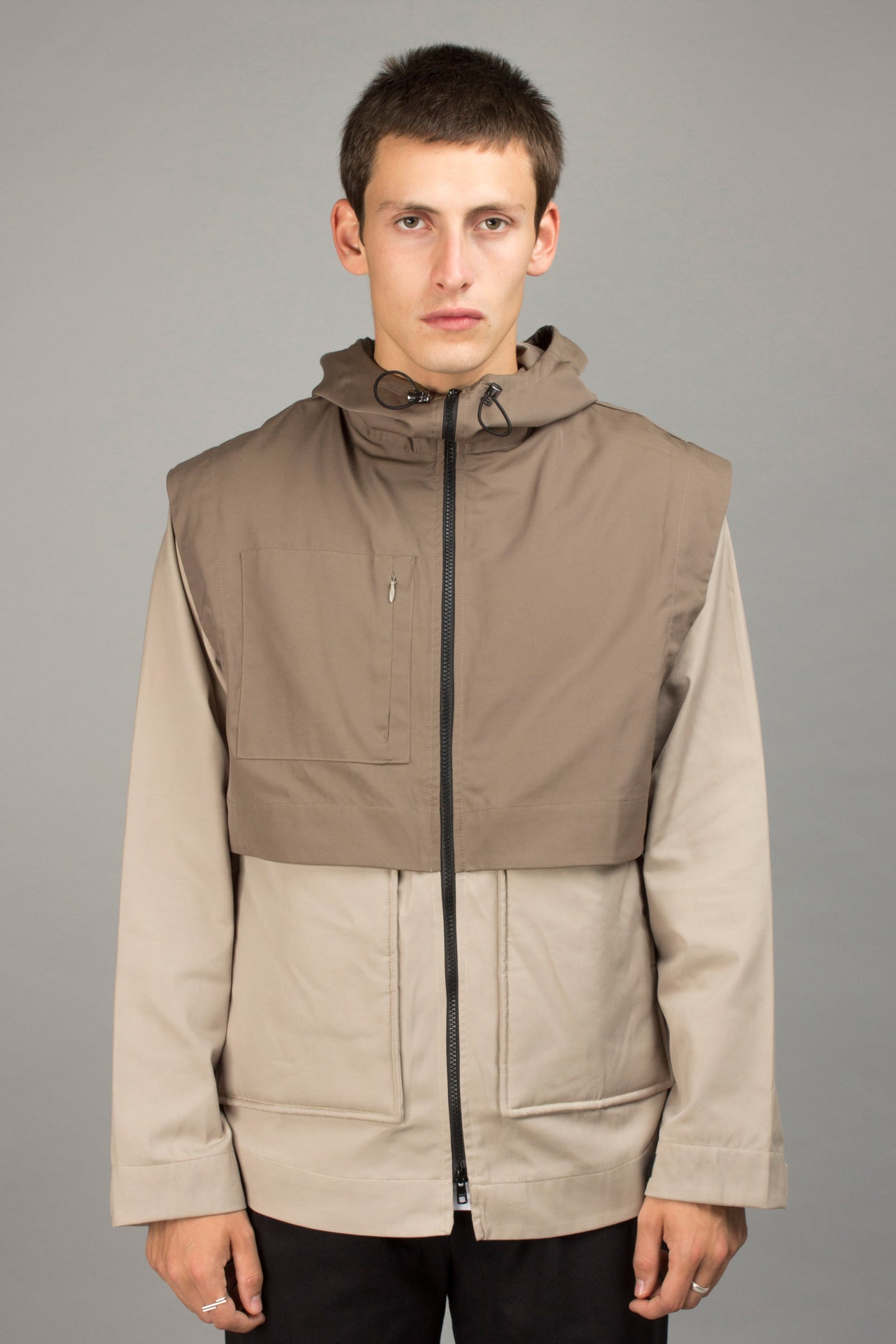 TWO-TONE WATERPROOF JACKET