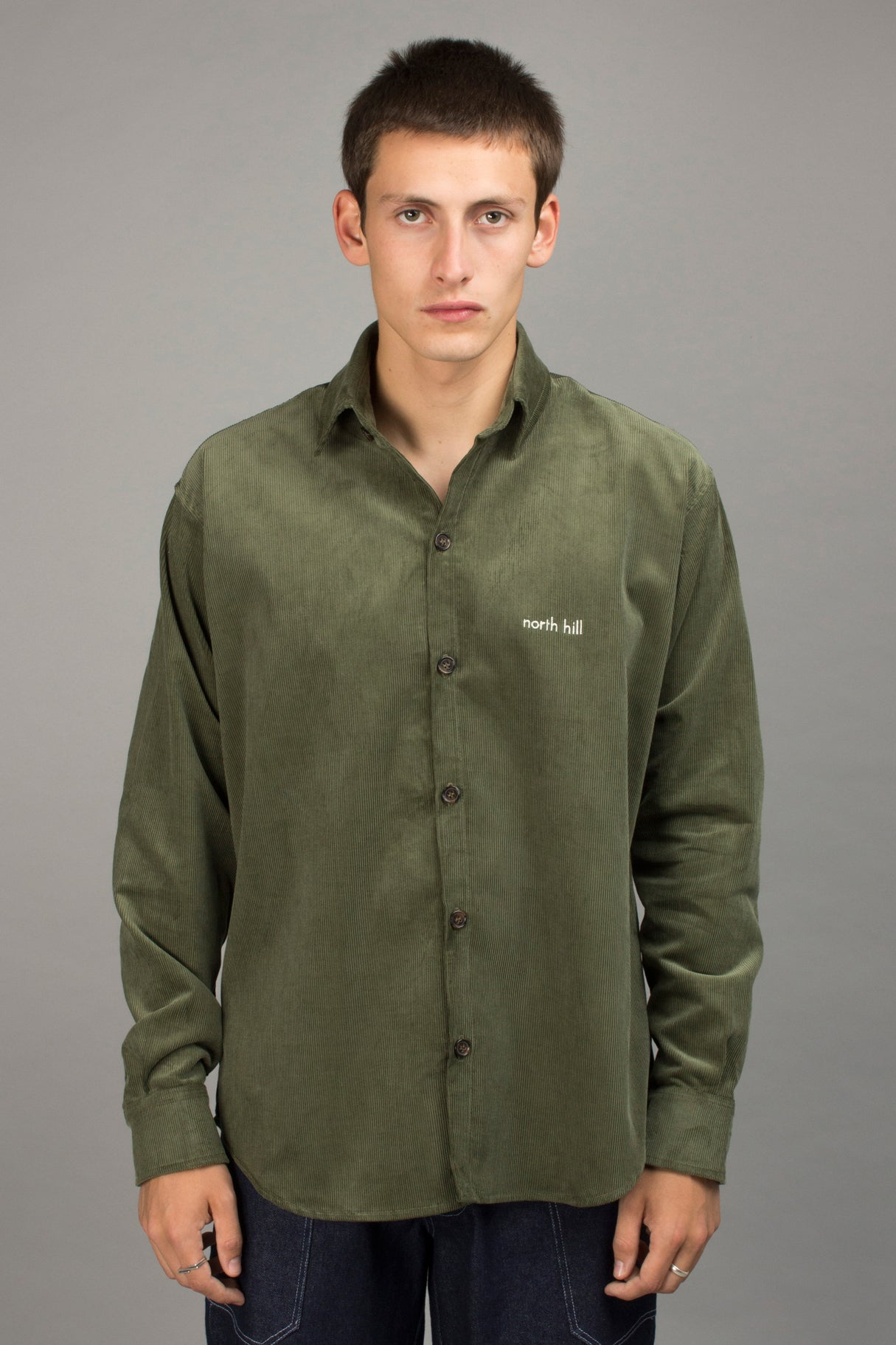 GREEN CORDUROY SHIRT