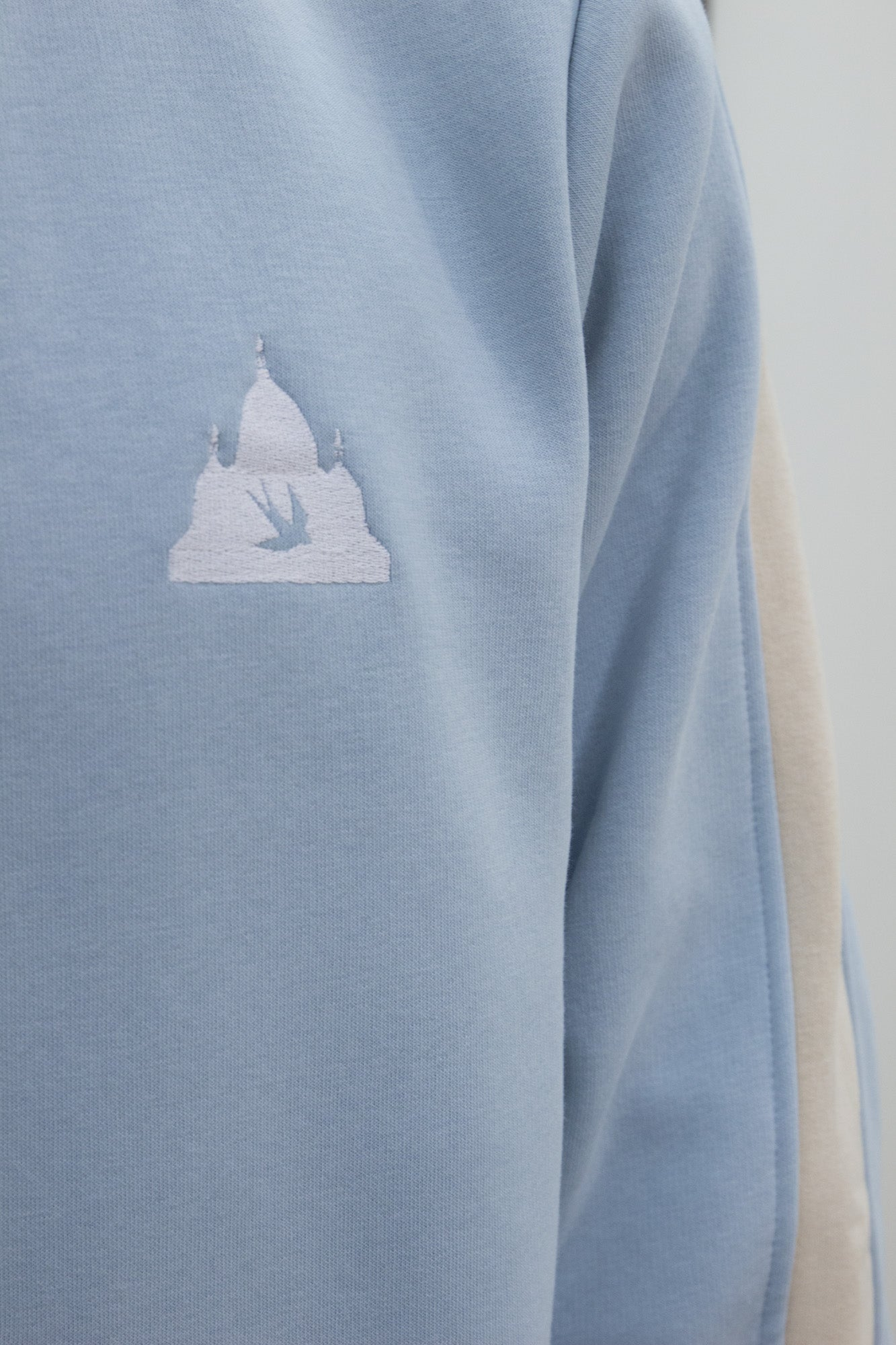 Blue Colorblock Crewneck