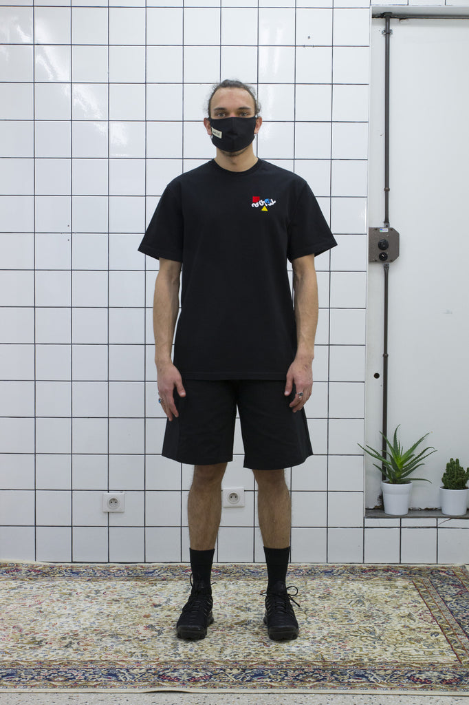Black Color Logo Tee