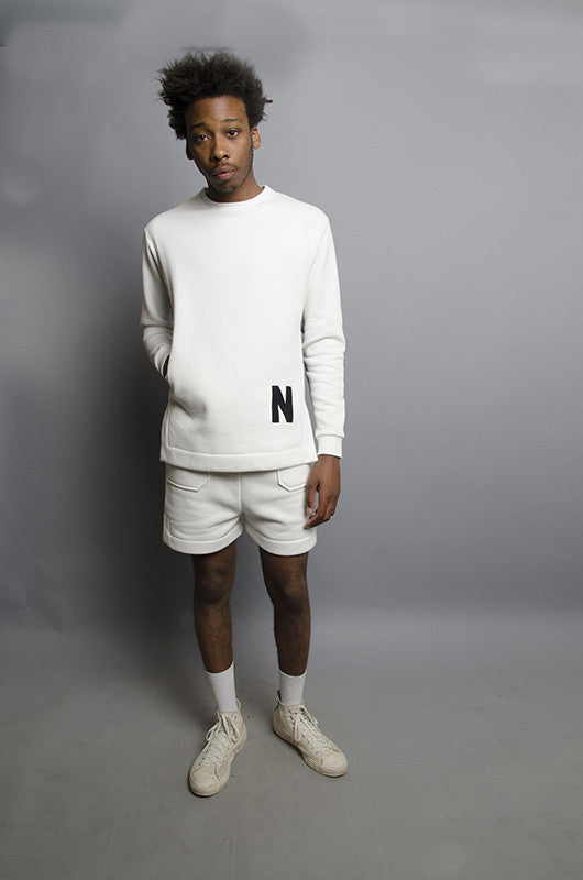 The North Hill Two-tone Vented Crewneck is a made in France Sweatshirt