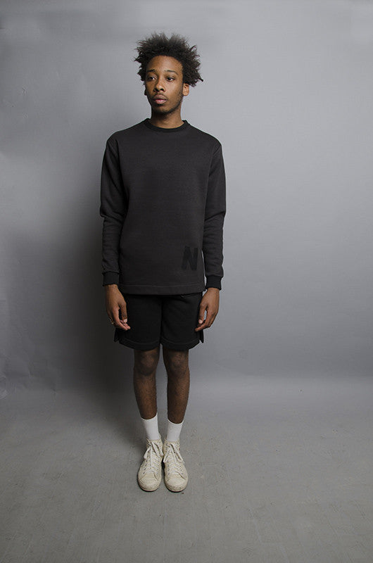 The North Hill Monotone Vented Crewneck is a made in France sweatshirt
