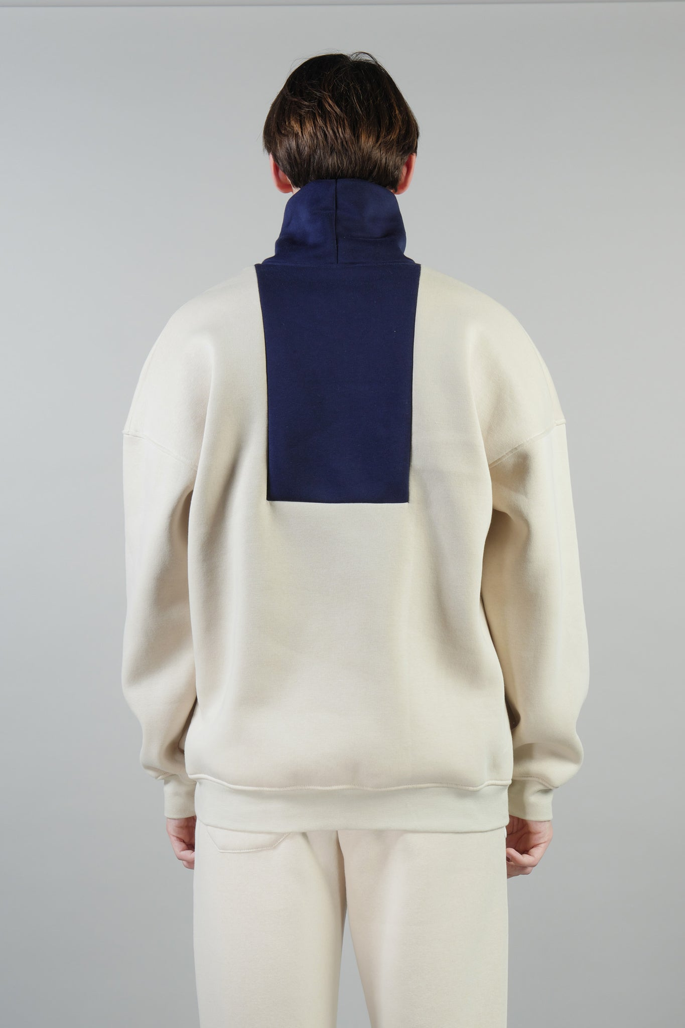 COLORBLOCK TURTLENECK NAVY