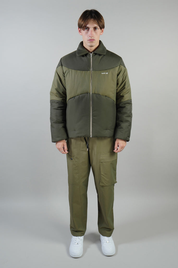 PADDED JACKET WATERPROOF GREEN/GREEN