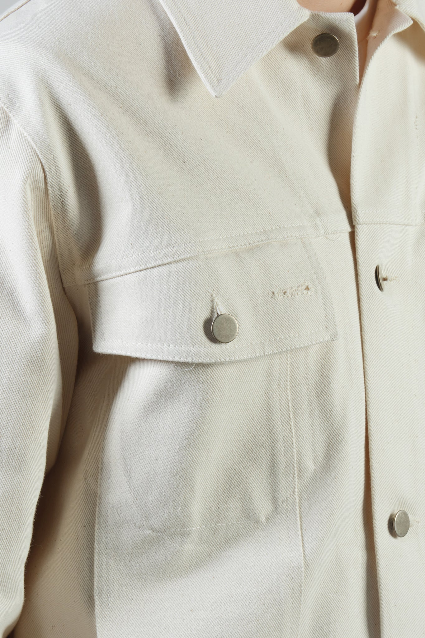 BUTTON UP JACKET DENIM NATURAL