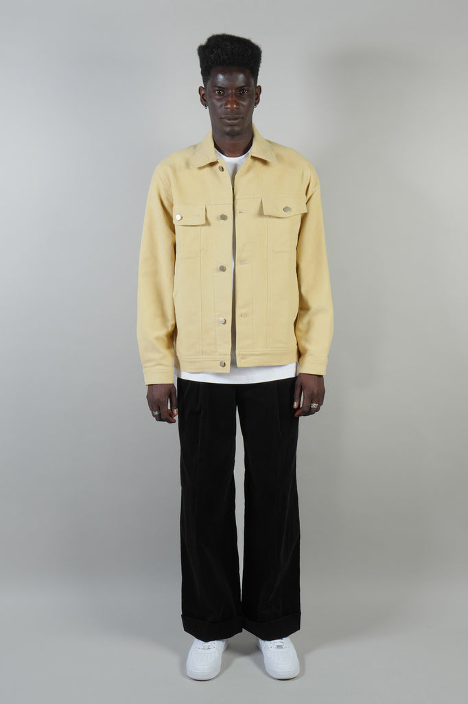 BUTTON-UP JACKET MOLESKINE YELLOW