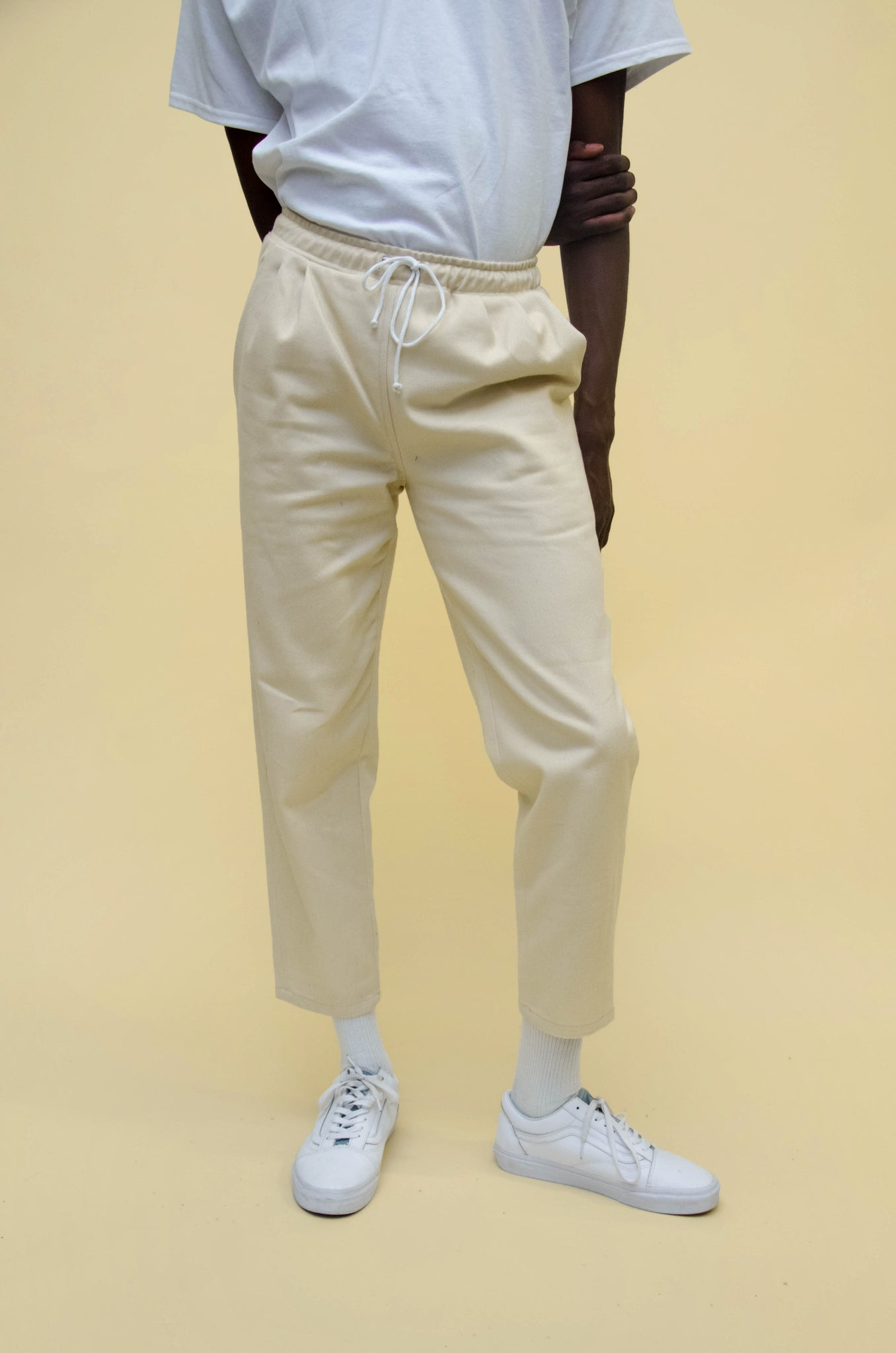 The North Hill Bull Denim Carrot Pants is a made in France pants