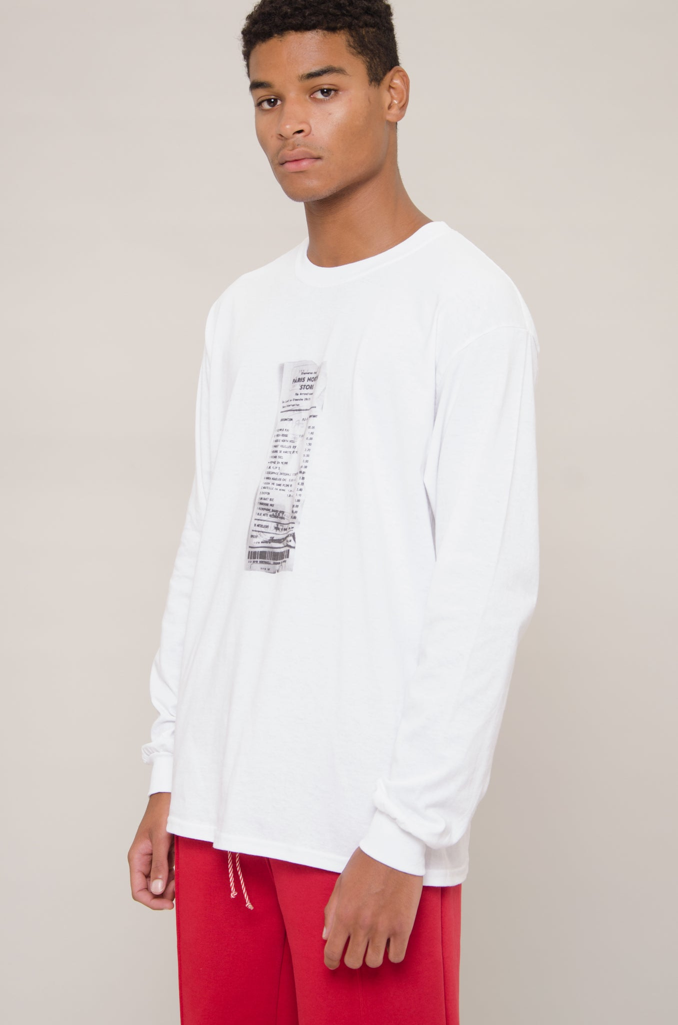 Long Sleeve Receipt Tee