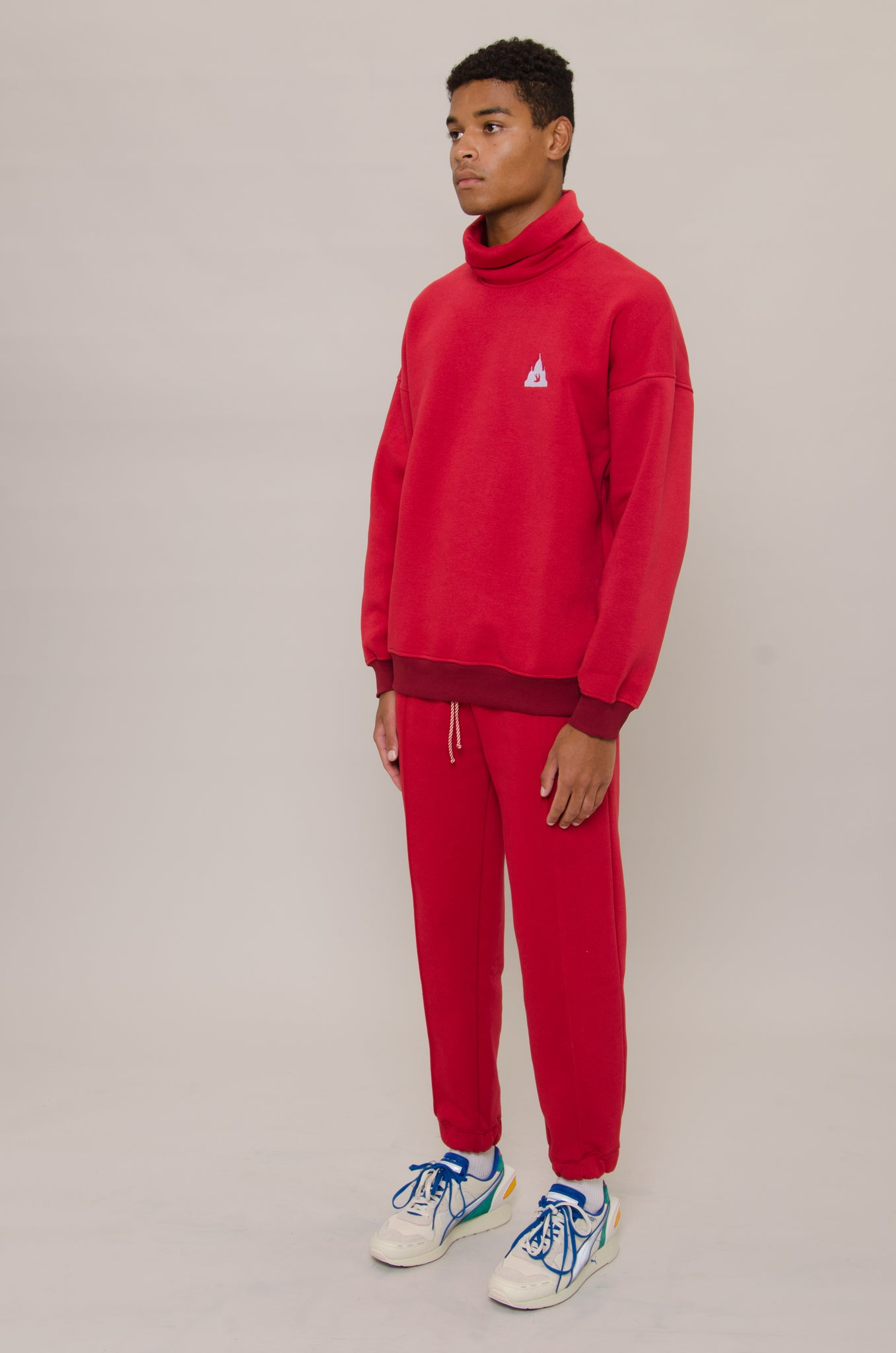 Red Logo Turtleneck