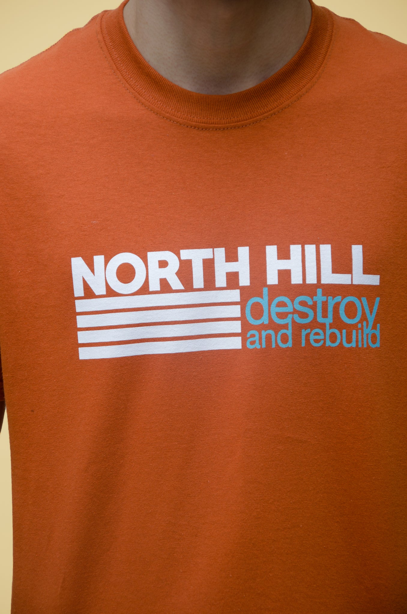 The North Hill Destroy & Rebuild Tee is a made in France t-shirt
