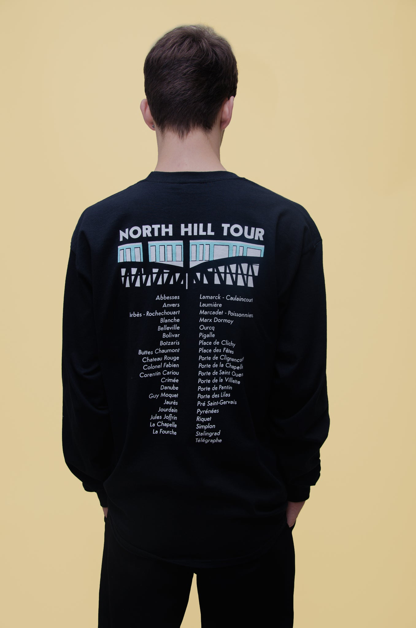 The North Hill Tour Longsleeve Tee is a made in France t-shirt