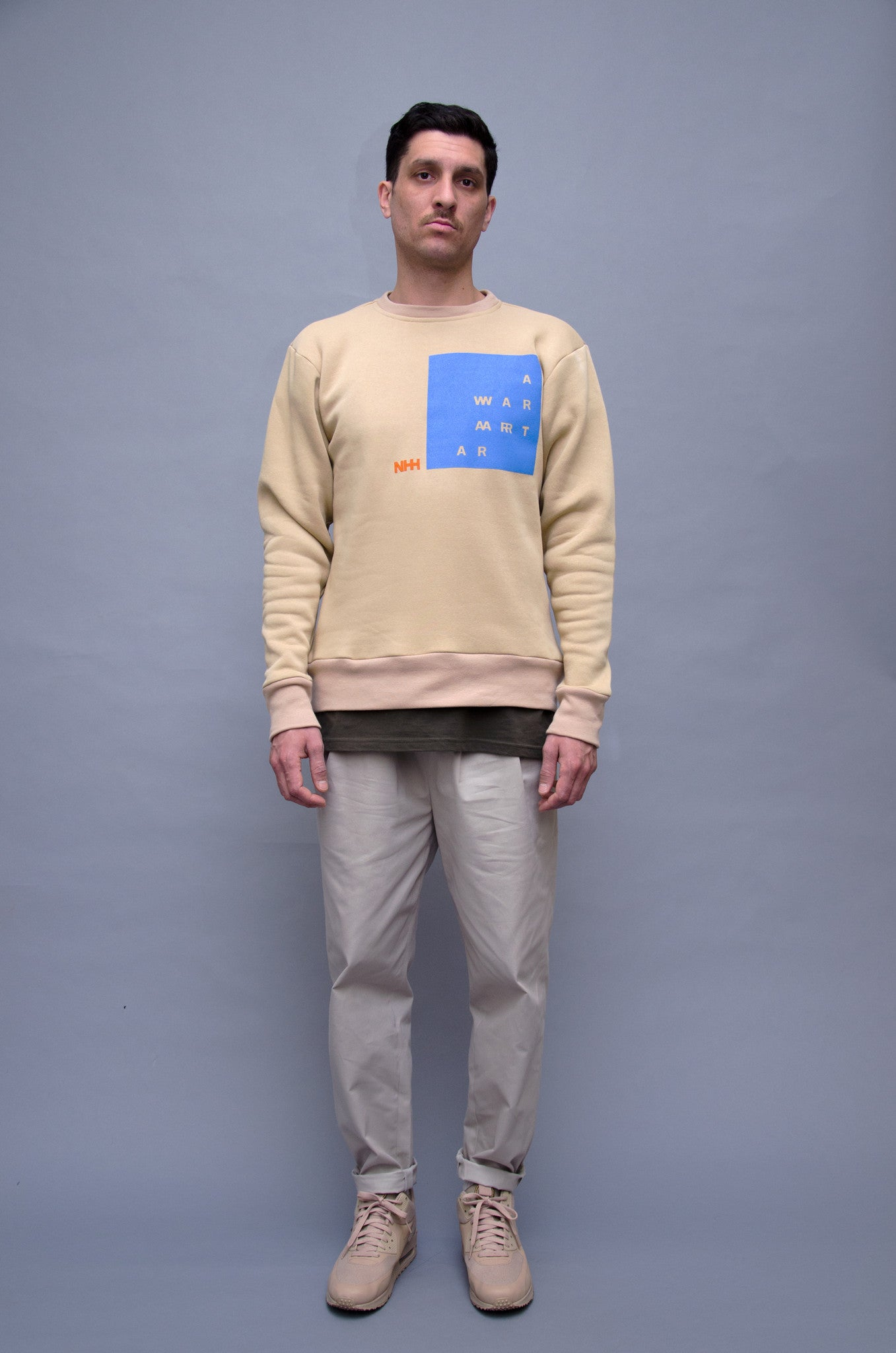 The North Hill Two-tone Warrior Crewneck is a made in France sweatshirt