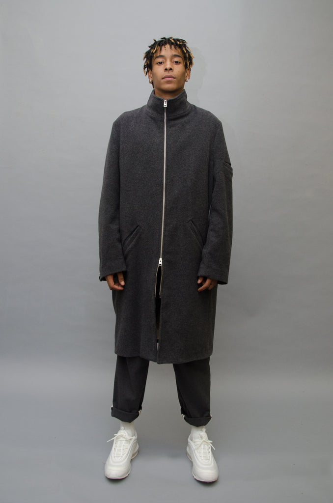 The North Hill Dilla Wool Coat is a made in France coat