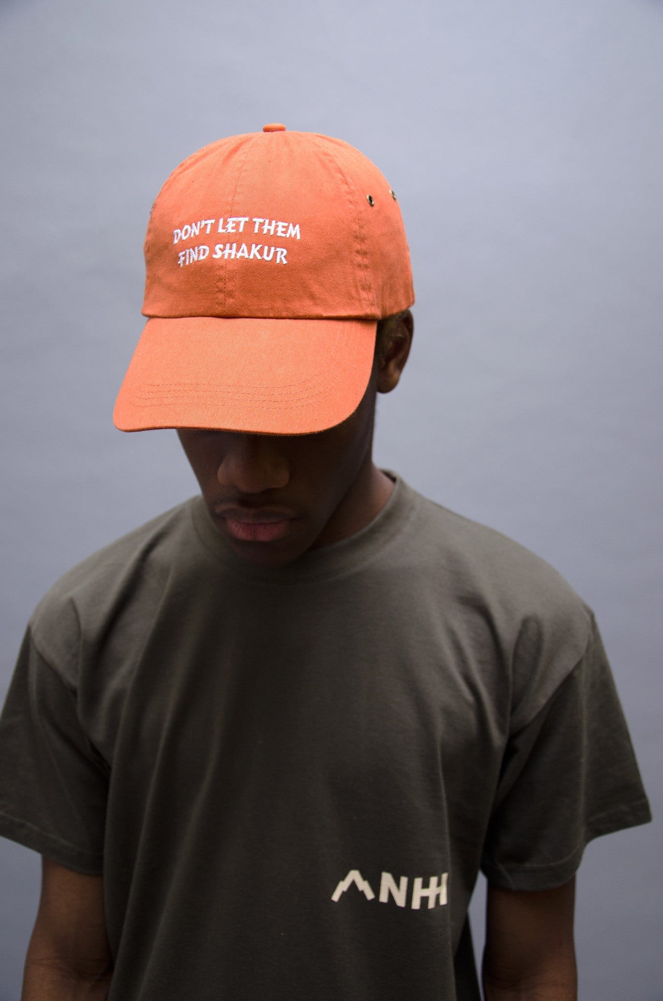 The North Hill Orange Shakur Hat is a made in France cap