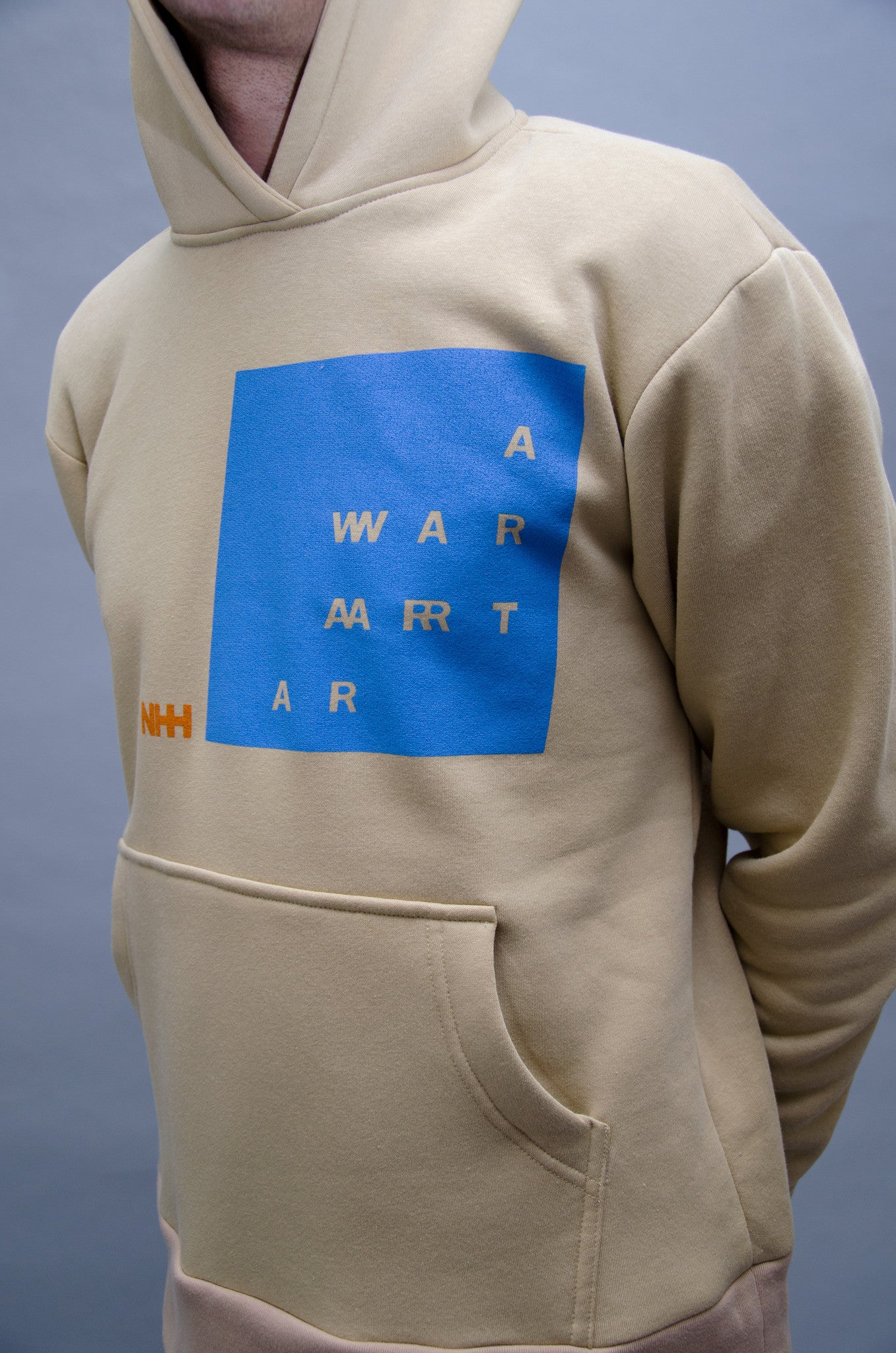 The North Hill Two-tone Warrior Hoodie is a made in France sweatshirt