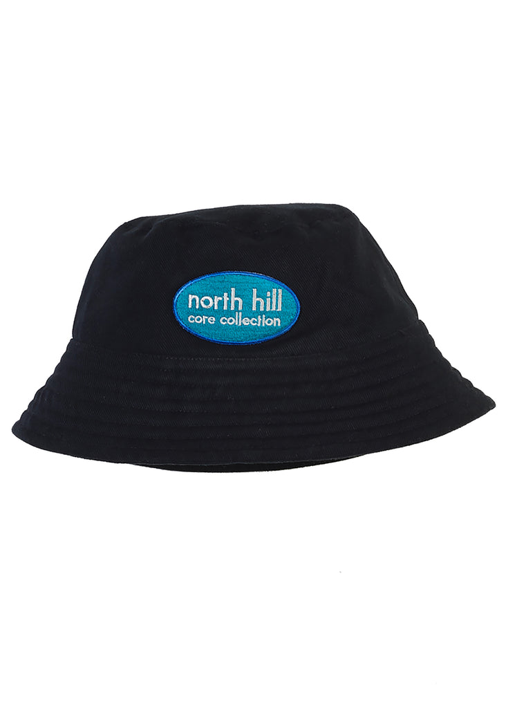 Black Patch Bucket Hat