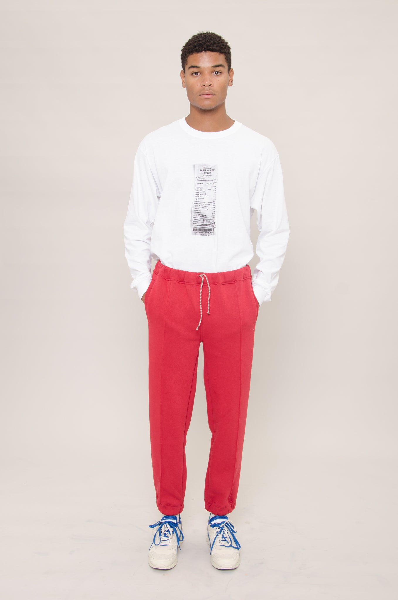 Red Fleece Jogger Pants