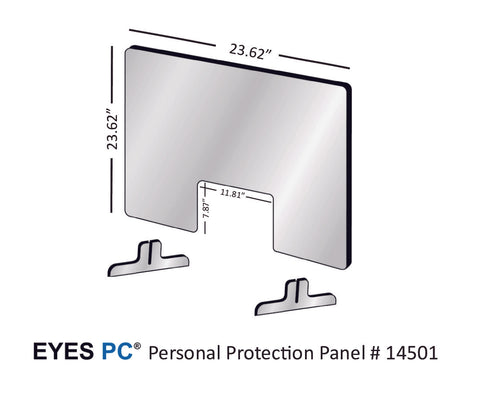 Personal Protection Panel for 24 inch wide space from EYES PC