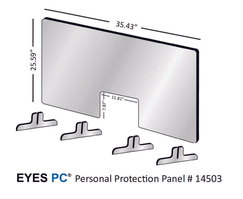 Personal Protection Panel for 36 inch wide space from EYES PC