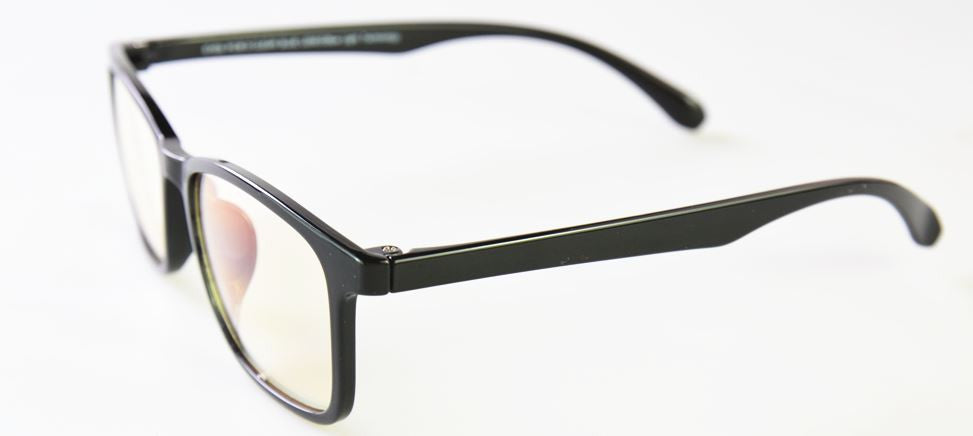 Style 712 Polished Black Blue Light Glasses