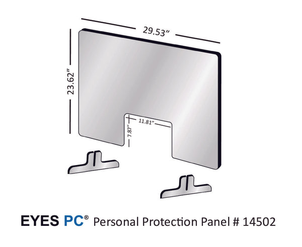 "30"" Personal Protection Shield from EYES PC"
