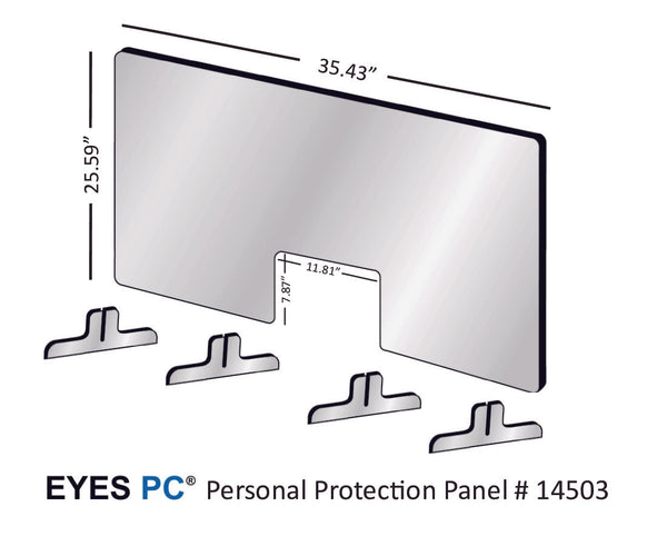 "36"" Personal Protection Shield from EYES PC"