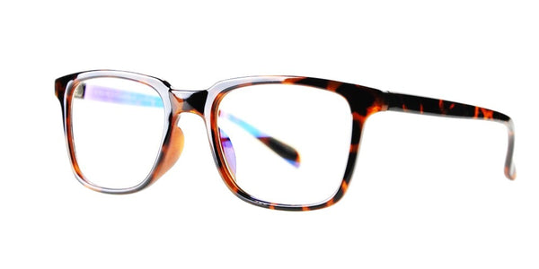 Blue Light Blocking Glasses, Reduce Eye Strain, Brown Tortoise Style 701, from EYES PC