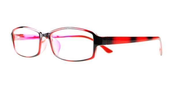 Blue Light Blocking Glasses, Reduce Eye Strain, Red Stripe Style 705, from EYES PC