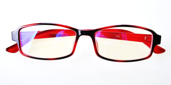 Blue Light Blocking Glasses, Help Prevent Macular Degeneration, Red Stripe Style 705, From EYES PC