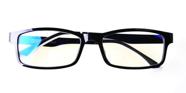 Blue Light Blocking Glasses, Help Prevent Macular Degeneration, Black Style 708, From EYES PC
