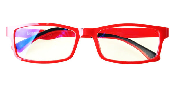 Blue Light Blocking Glasses, Help Prevent Macular Degeneration, Red Style 708, From EYES PC