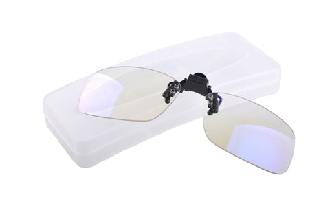 Blue Light Blocking Clip-On Glasses with case, Reduce Eye Strain, Style 790, from EYES PC